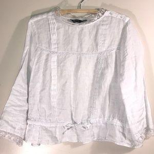 Zara Linen Vintage style blouse